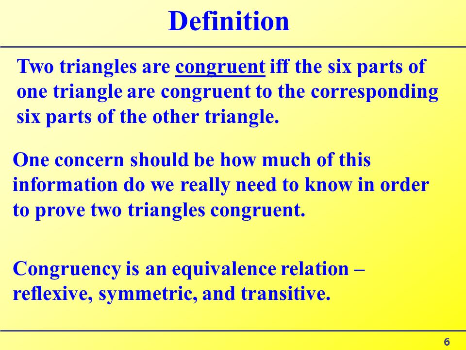 Congruency >> §3.1 Triangles The student will learn about: congruent triangles, - ppt download