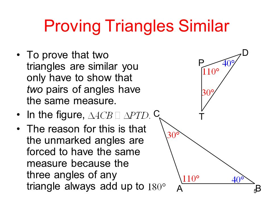 how to use similar triangles