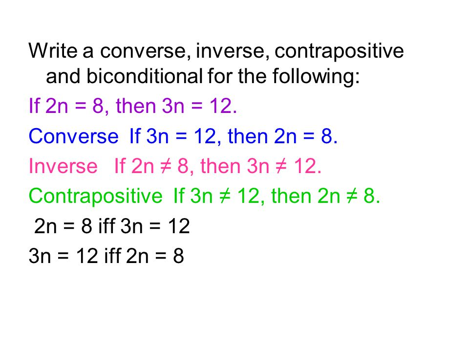 Logic To write a conditional ppt download – Converse Inverse Contrapositive Worksheet