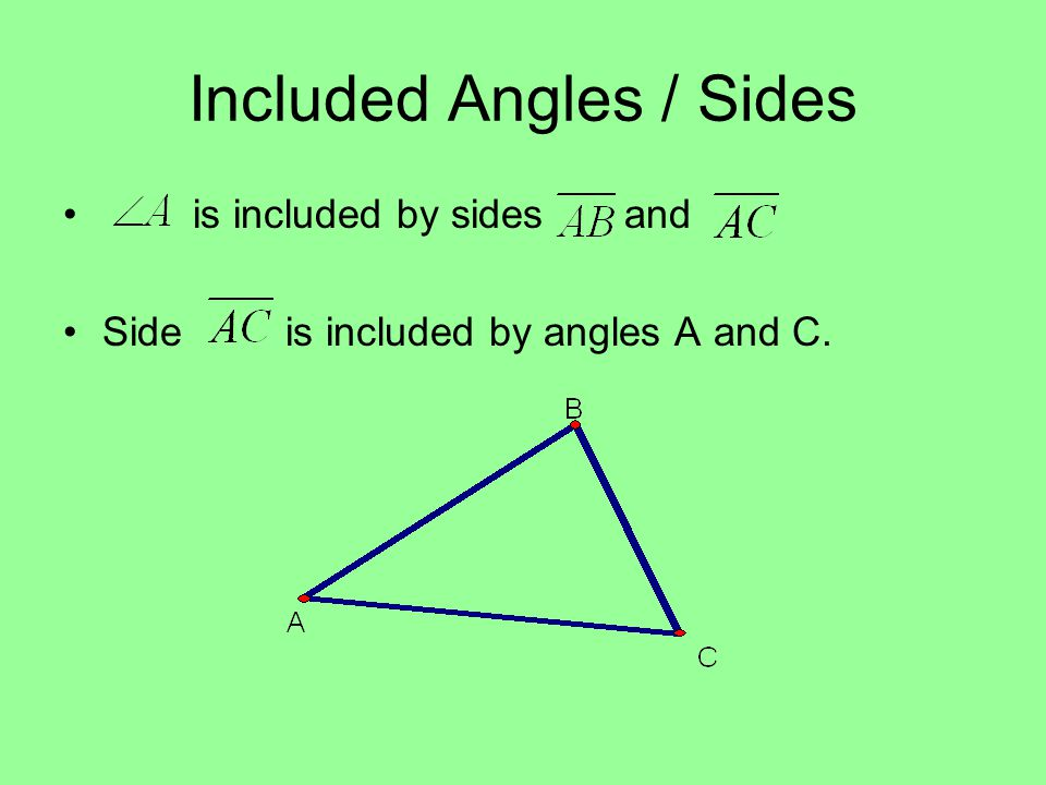 Included Angles / Sides