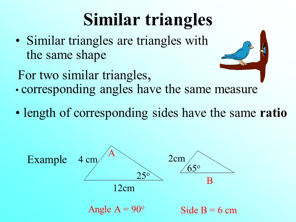 Similar triangles Similar triangles are triangles with the same shape