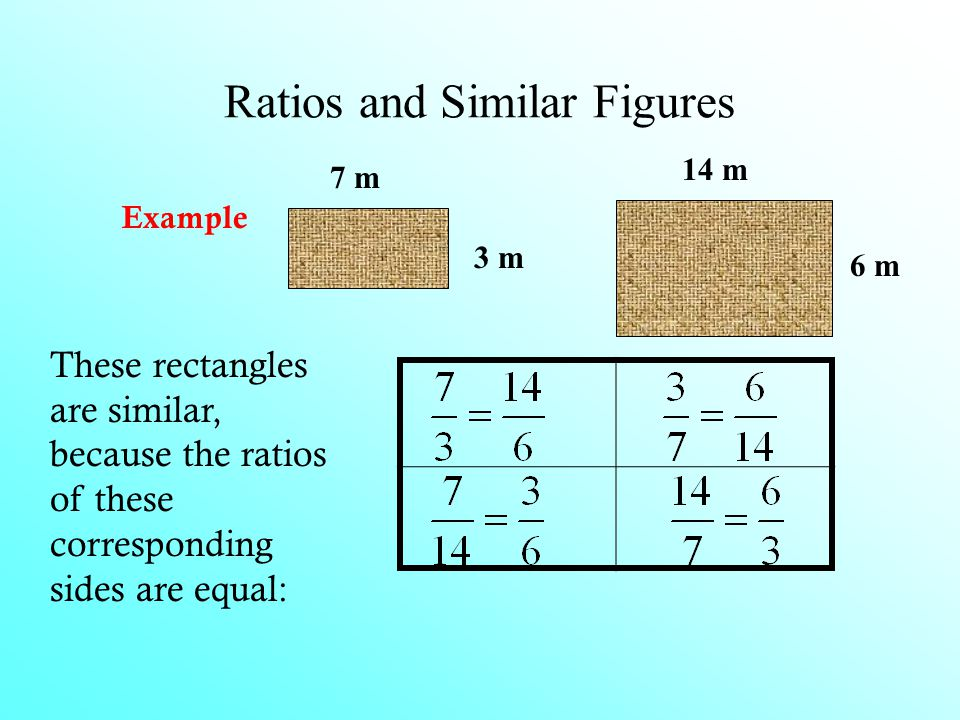 Ratios and Similar Figures