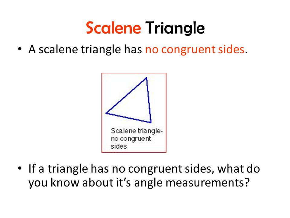 how to know the sides of a triangle