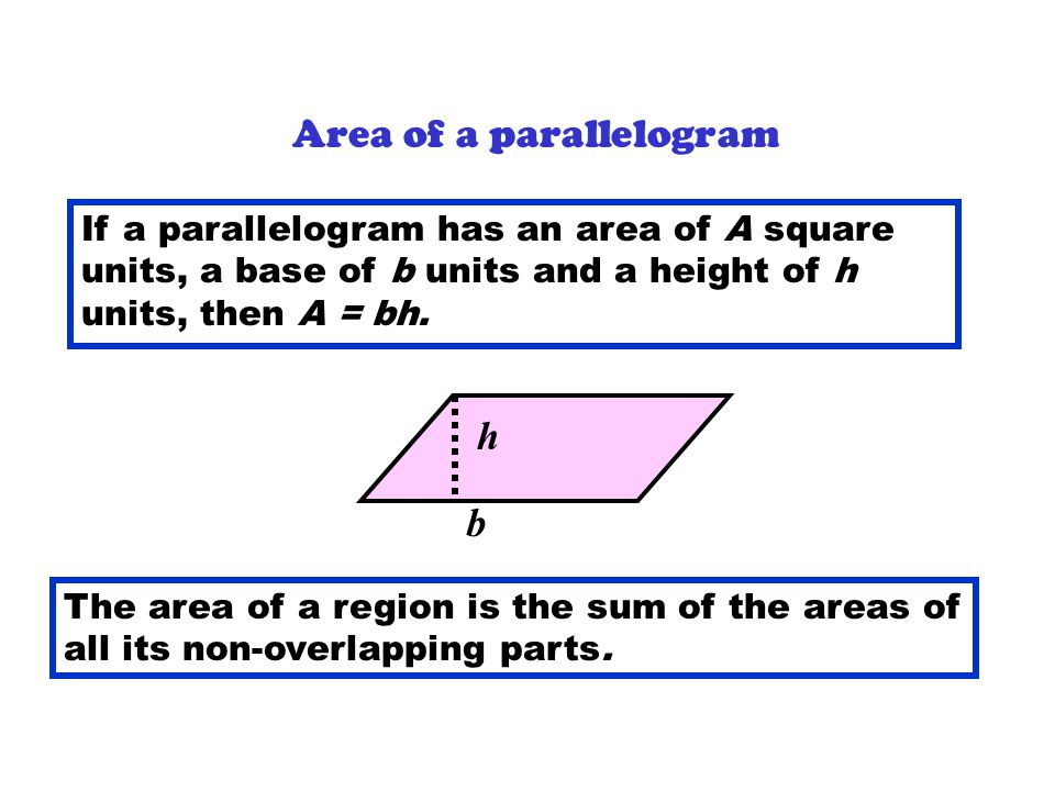 area of rectangles and parallelograms pdf