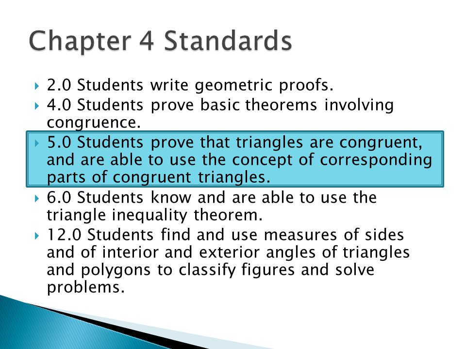 Congruent triangles geometry chapter ppt video online download - Exterior angle inequality theorem ...