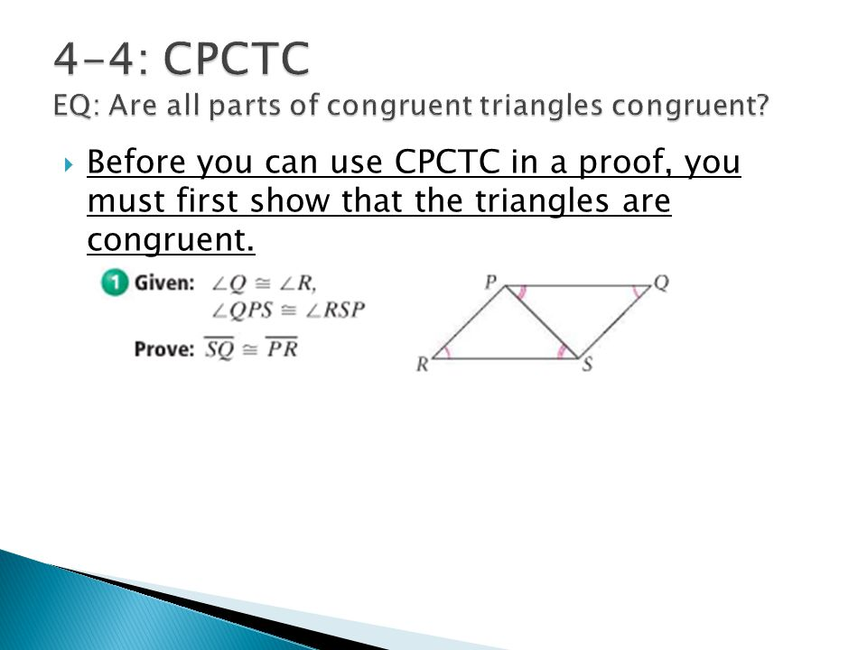 Collection Of Using Congruent Triangles Cpctc Worksheet 4 4
