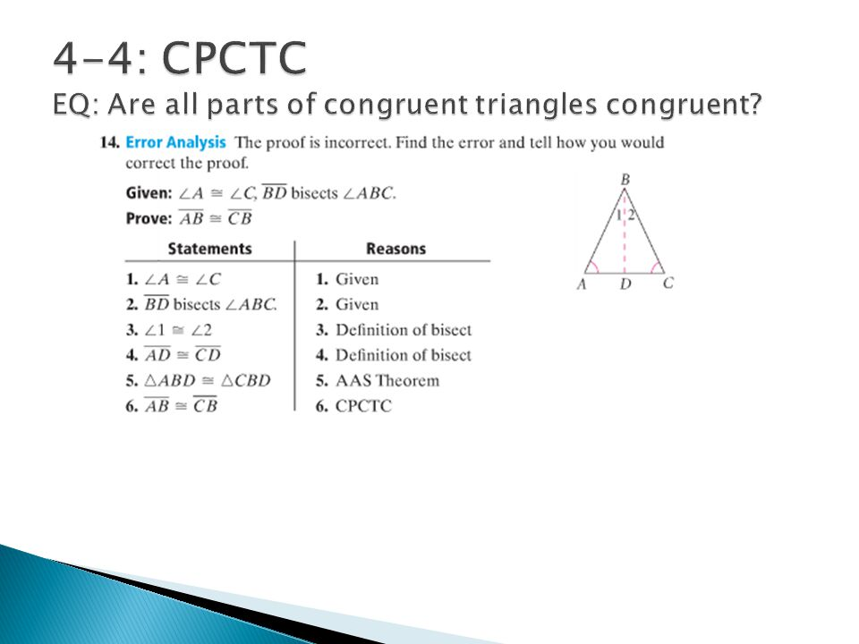 Congruent Triangles Geometry Chapter Ppt Video Online Download