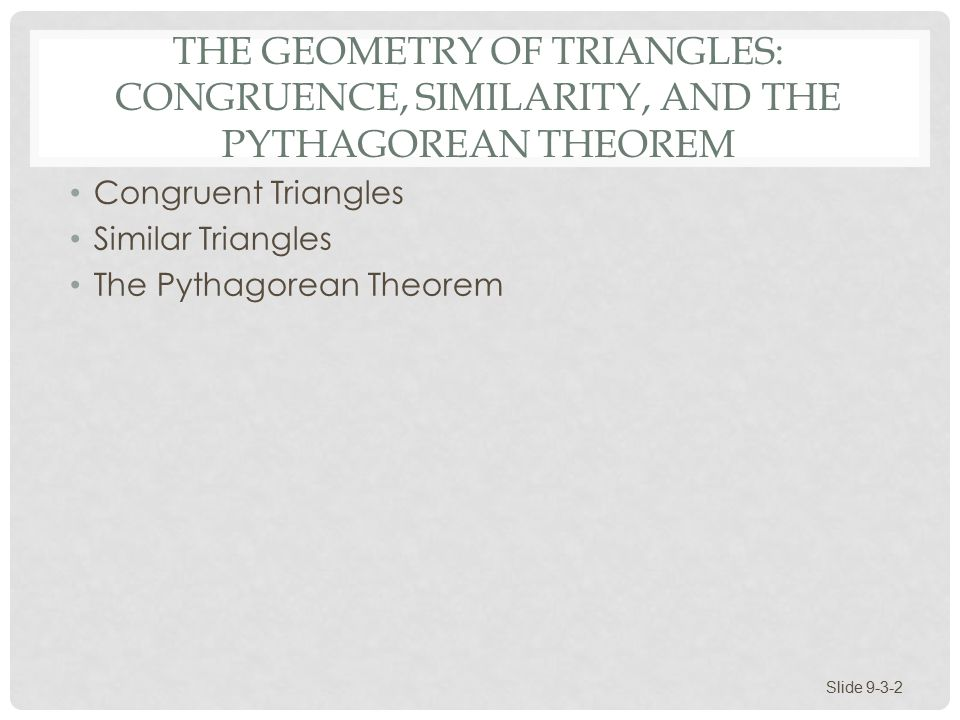 Section 93 The Geometry of Triangles Congruence Similarity and – Congruence and Similarity Worksheet