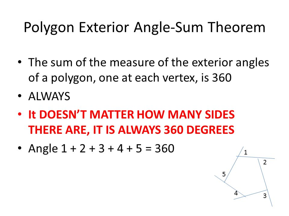 Unit 6 introduction to polygons ppt video online download - Sum of exterior angles of polygon ...