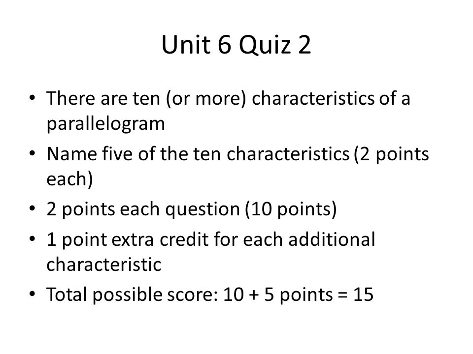 Review Game and Unit Assessment