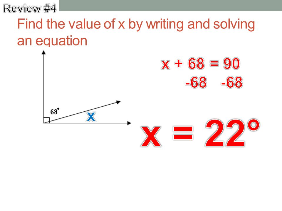 how to find the x value in a equation