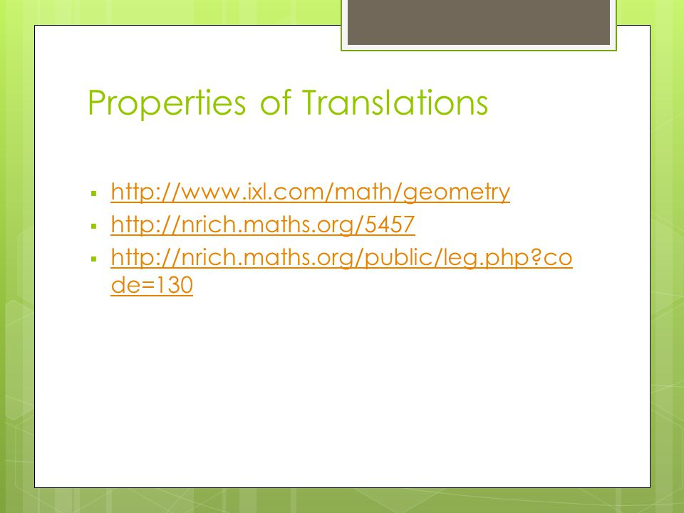 The Concept of Transformations in a High School Geometry Course ...