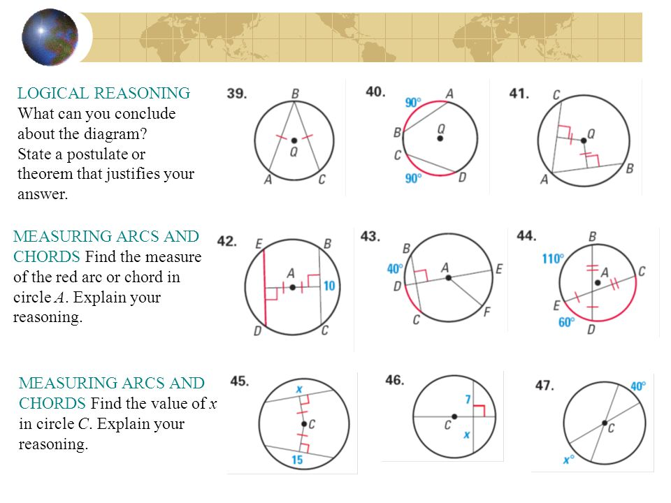 Arcs and Chords lesson 10.2 California State Standards - ppt download