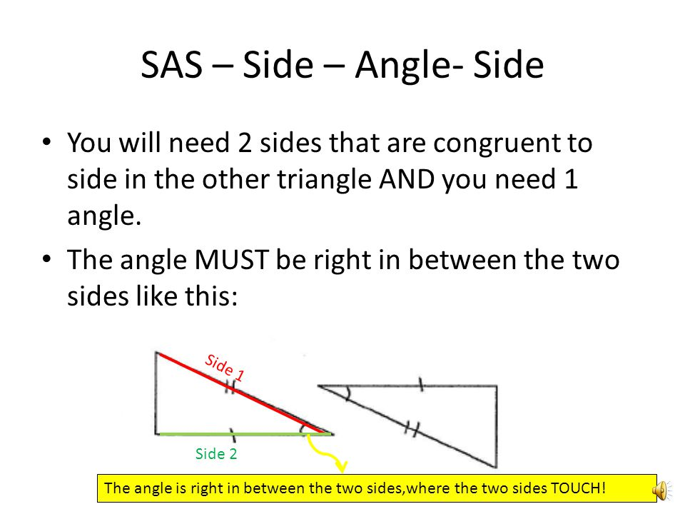 how to find the side of a sas triangle
