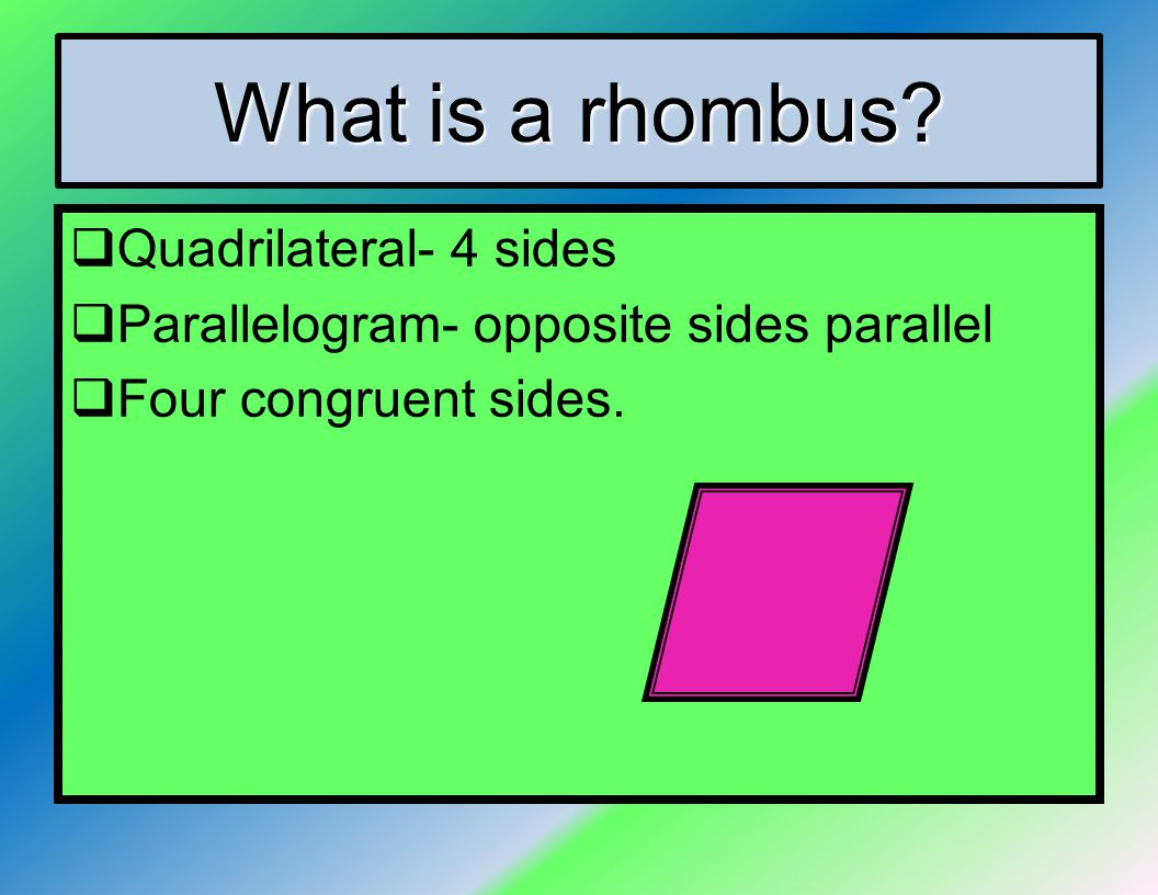 how to find the length of a rhombus