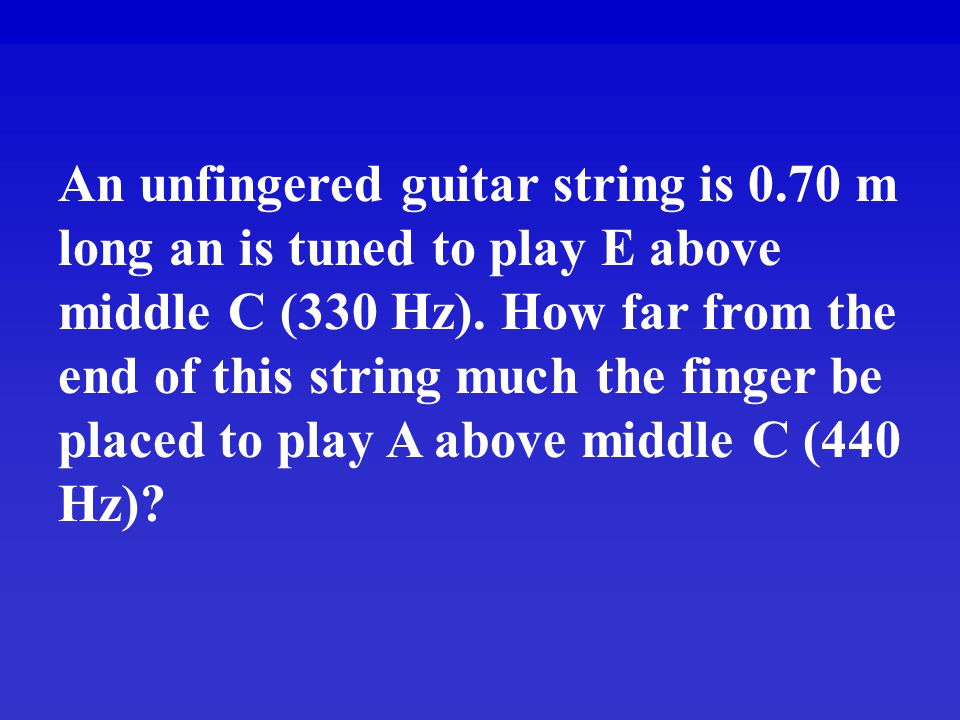 An unfingered guitar string is 0