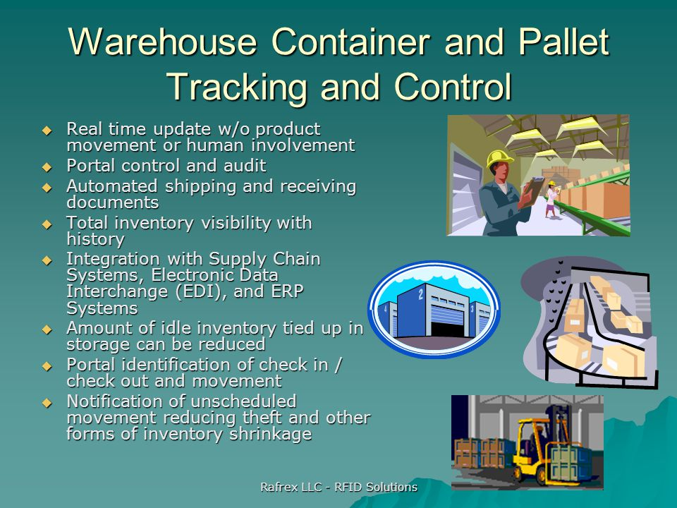Warehouse Container and Pallet Tracking and Control