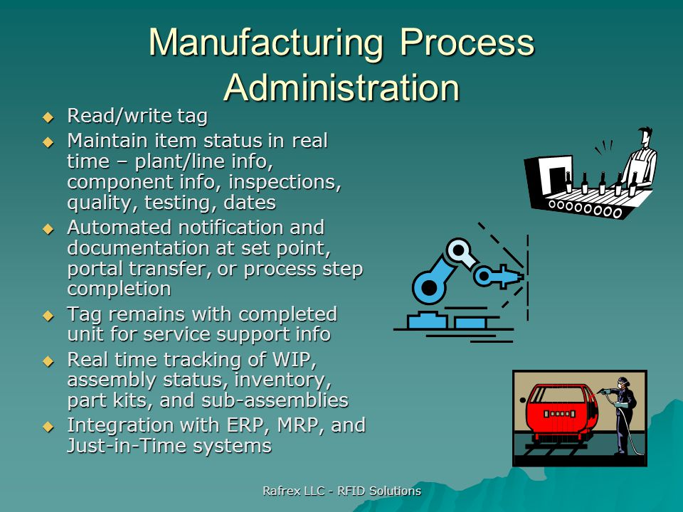 Manufacturing Process Administration