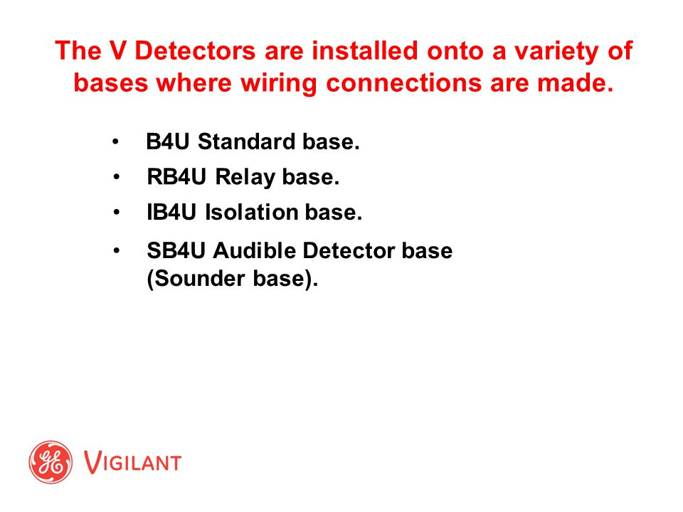 Signature v series detectors and modules ppt video online download the v detectors are installed onto a variety of bases where wiring connections are made swarovskicordoba Gallery