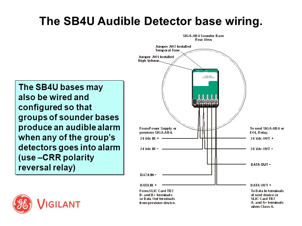 The+SB4U+Audible+Detector+base+wiring. signature & v series detectors and modules ppt video online siga cc1s wiring diagram at panicattacktreatment.co