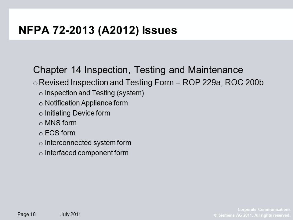 NFPA Prelim-ROC Level. - ppt download
