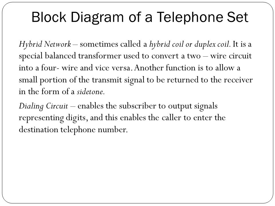 The Telephone Instrument - ppt video online download