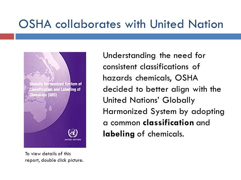 OSHA collaborates with United Nation