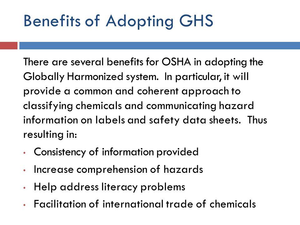 Benefits of Adopting GHS