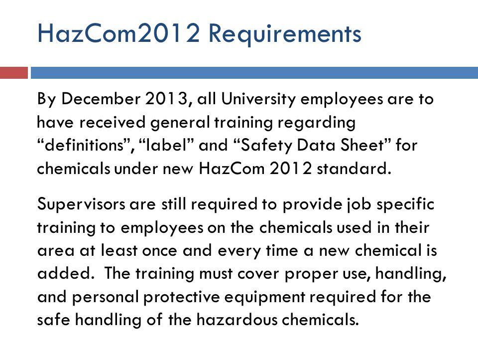 HazCom2012 Requirements
