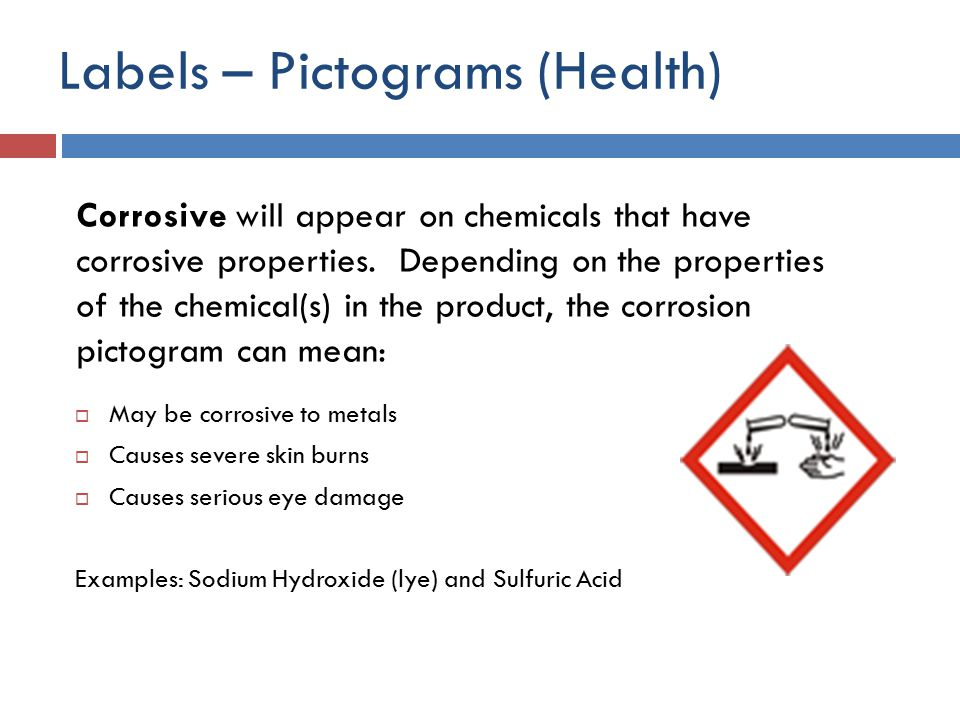 Labels – Pictograms (Health)