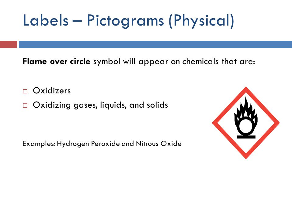 Labels – Pictograms (Physical)