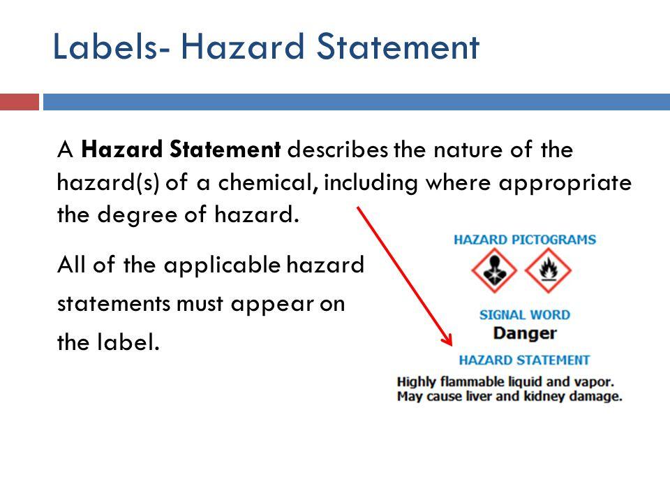 Labels- Hazard Statement