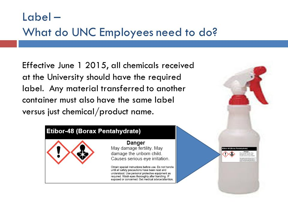 Label – What do UNC Employees need to do
