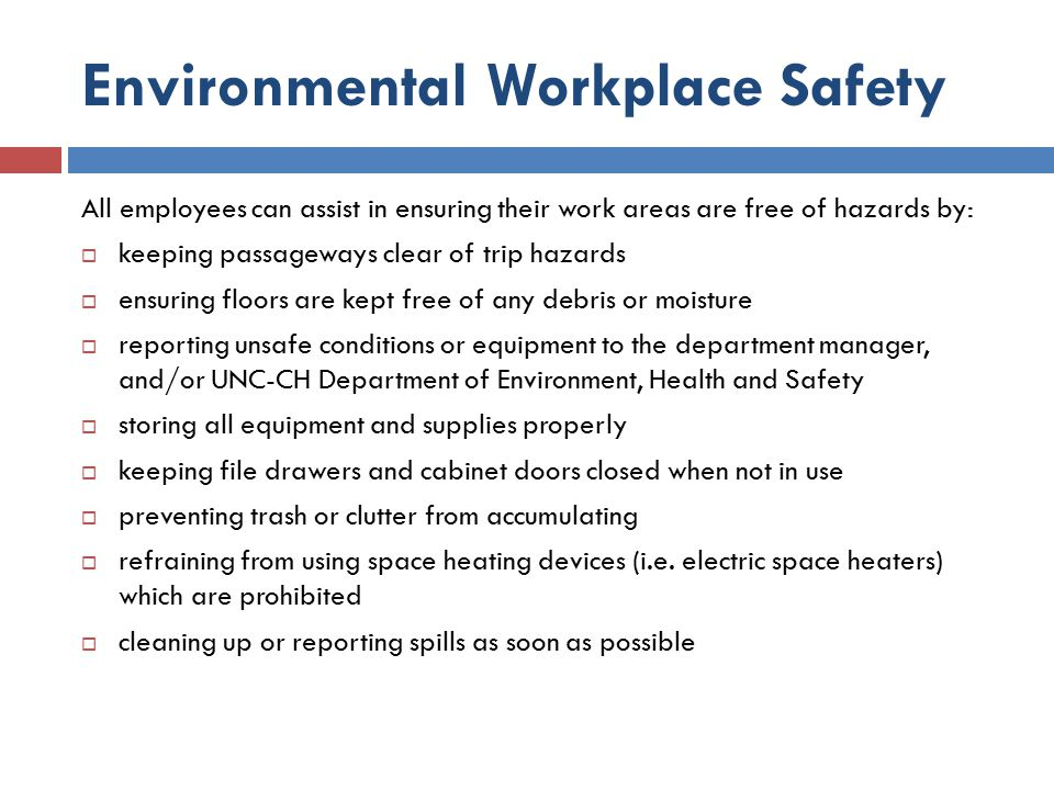 Environmental Workplace Safety