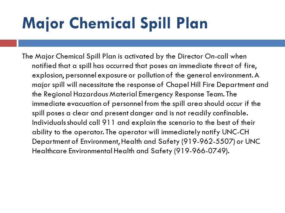 Major Chemical Spill Plan