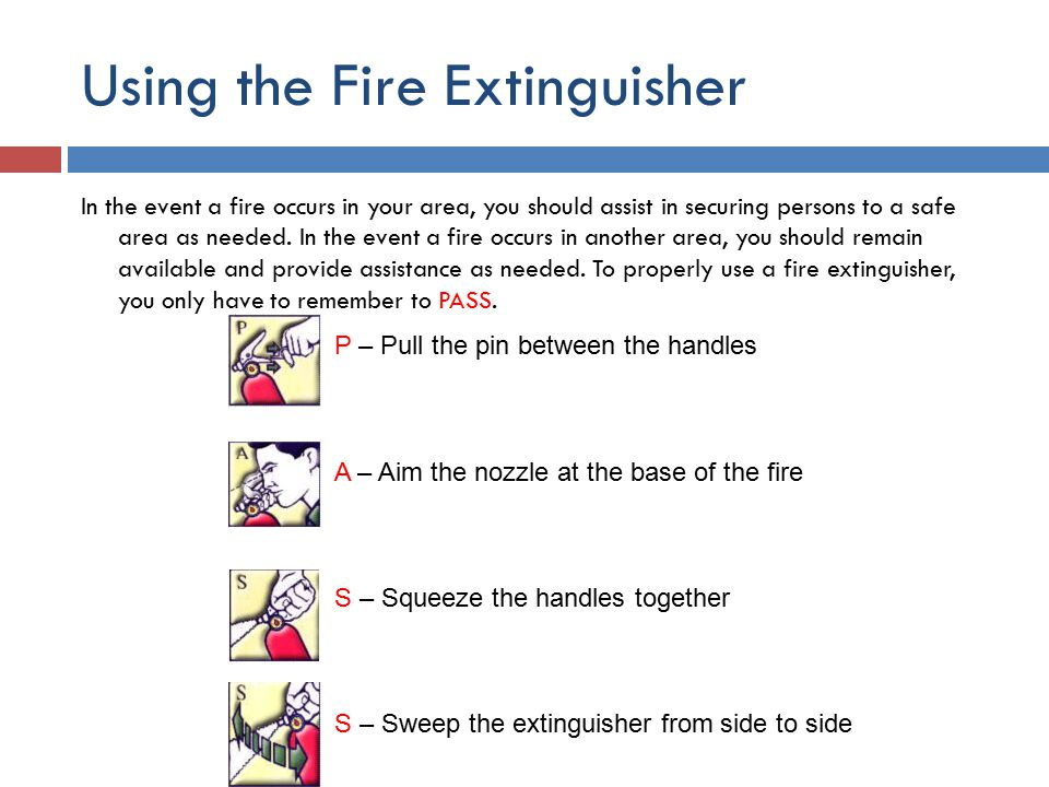 Using the Fire Extinguisher