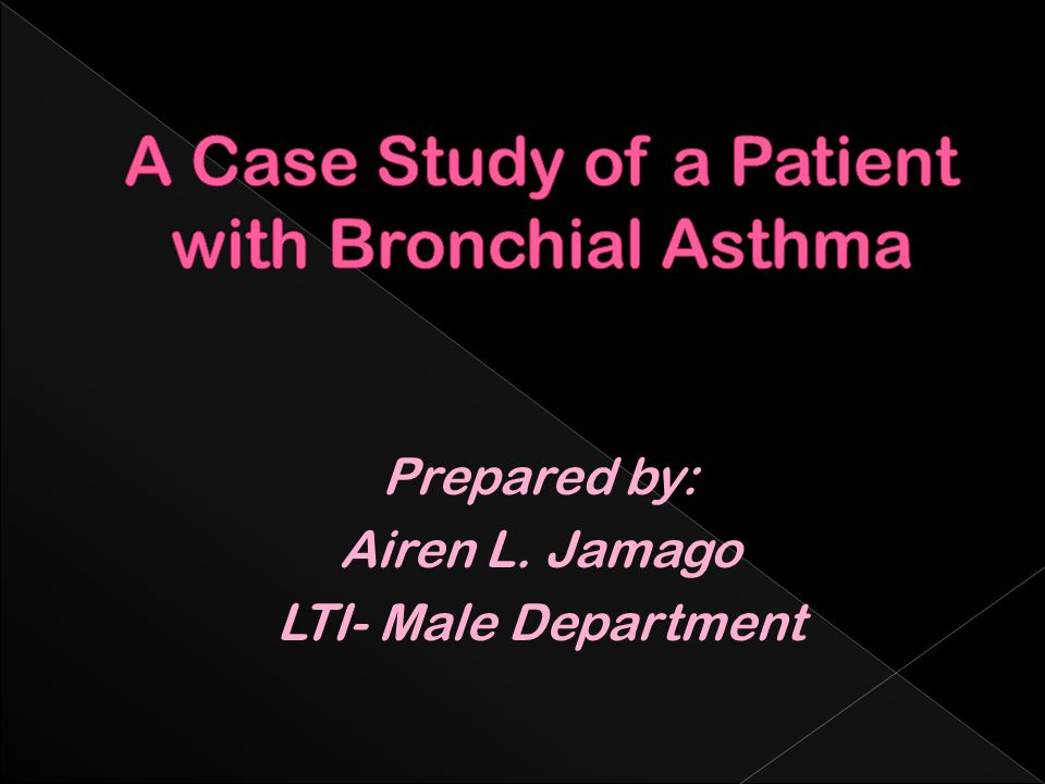 case study nursing bronchial asthma Physician assistants and nurse practitioners use clinical advisor for updated   case studies  the highly variable clinical presentation of asthma precludes a  universal  studies of twins and families with asthmatic members have shown  that, in many cases, asthma occurs in a pattern consistent with heritable factors.