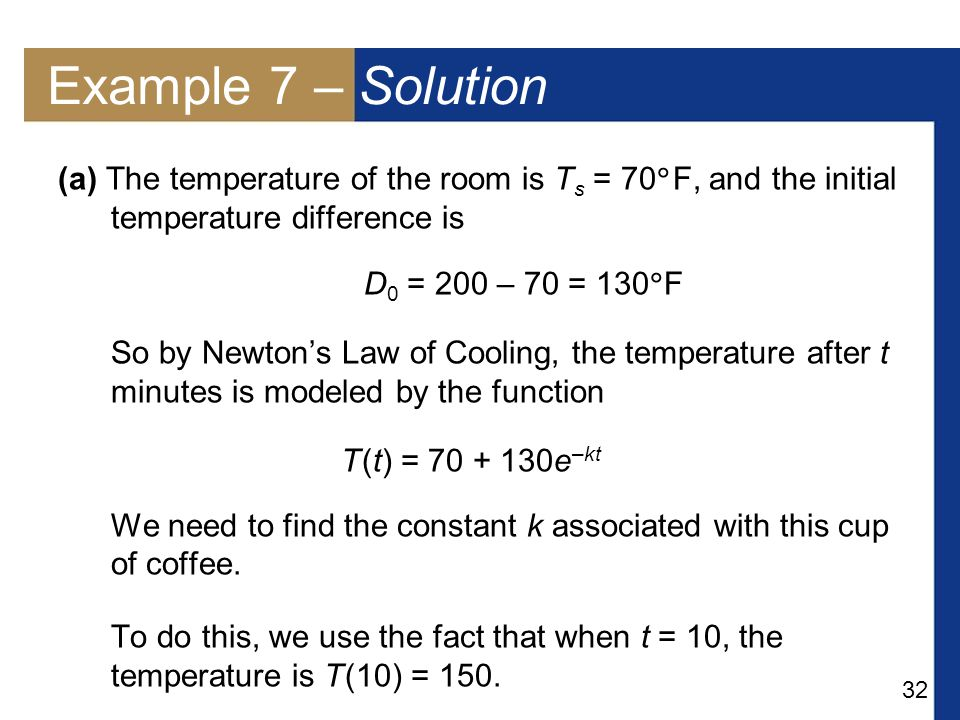 newtons law of cooling examples pdf