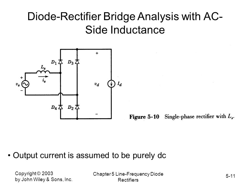 Diode-Rectifier Bridge Analysis with AC-Side Inductance