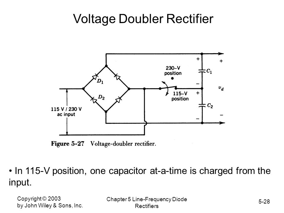 Voltage Doubler Rectifier