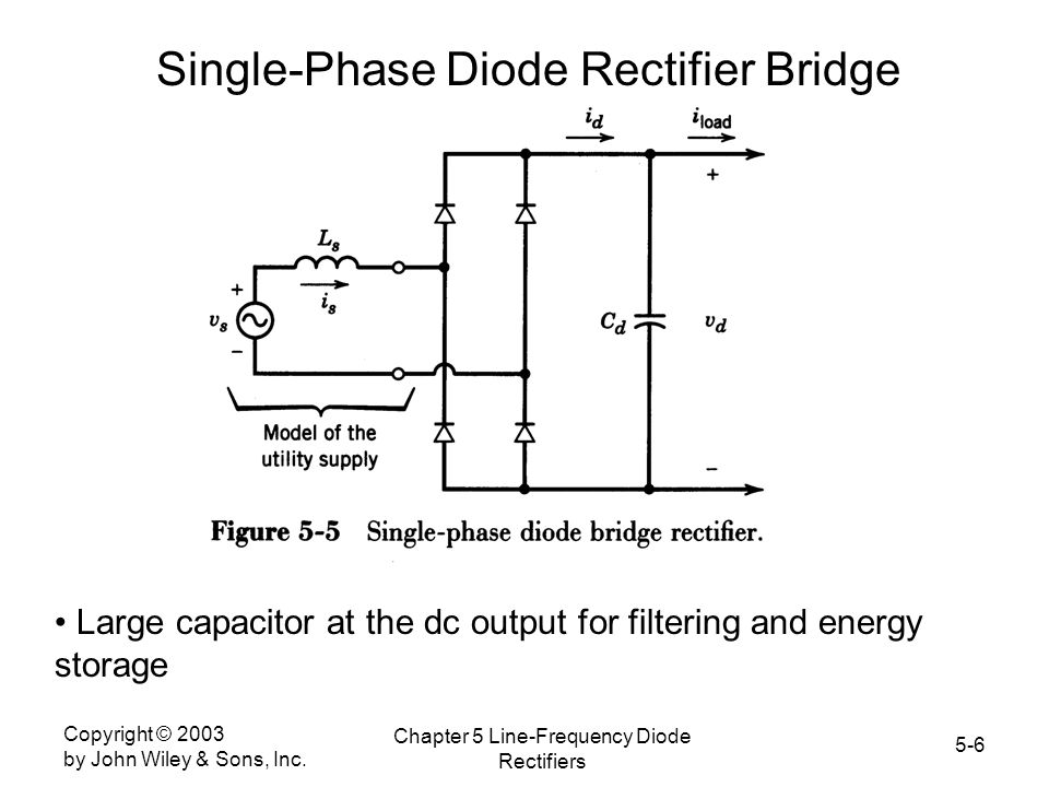 Single-Phase Diode Rectifier Bridge