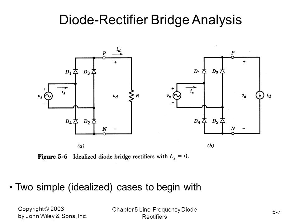 Diode-Rectifier Bridge Analysis