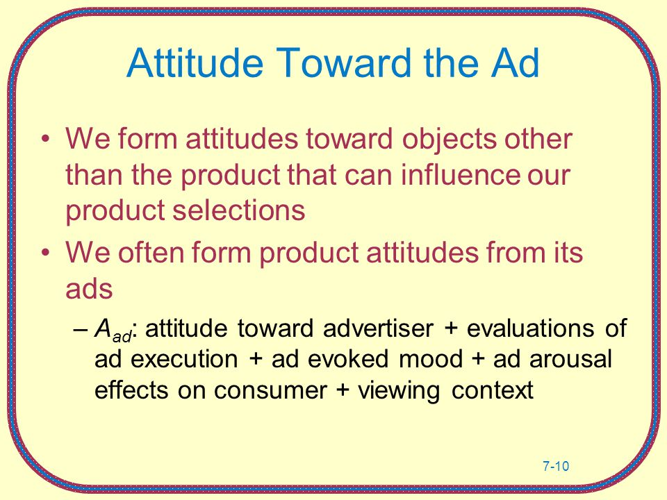 how advertising influence youth attitude toward Advertising as a positive influence on women's health the persuasion techniques of beauty product advertising influence of advertisements on women and the attitude toward cosmetics.