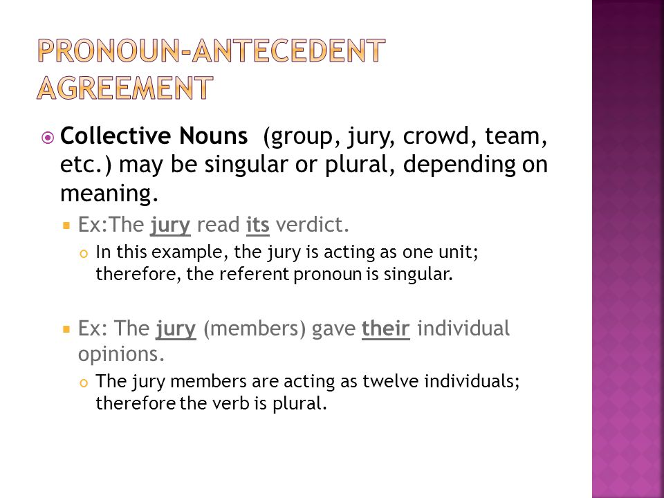 Agreement Subject Verb Pronoun Antecedent Ppt Video