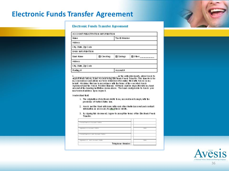 Dental providers and staff ppt video online download 36 electronic funds transfer agreement platinumwayz