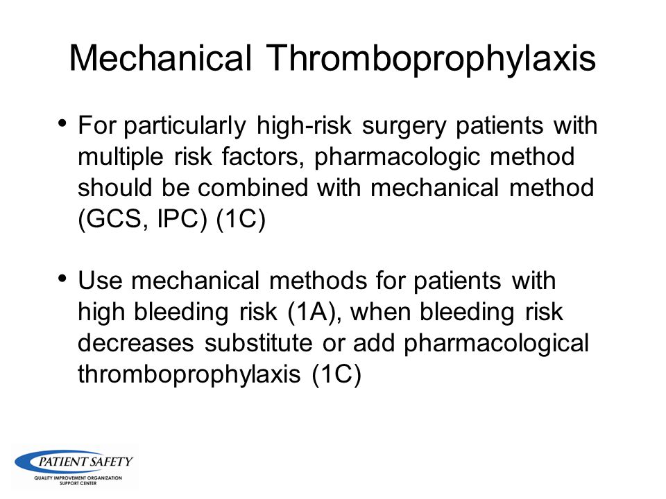 Mechanical Thromboprophylaxis