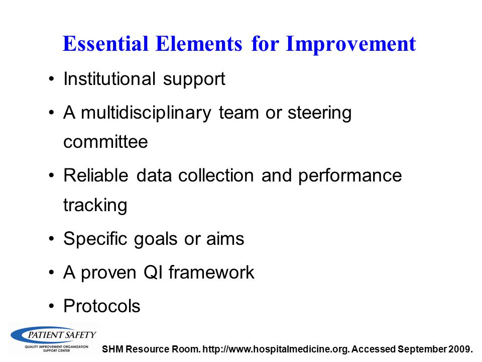 Essential Elements for Improvement