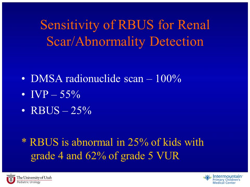 Sensitivity of RBUS for Renal Scar/Abnormality Detection