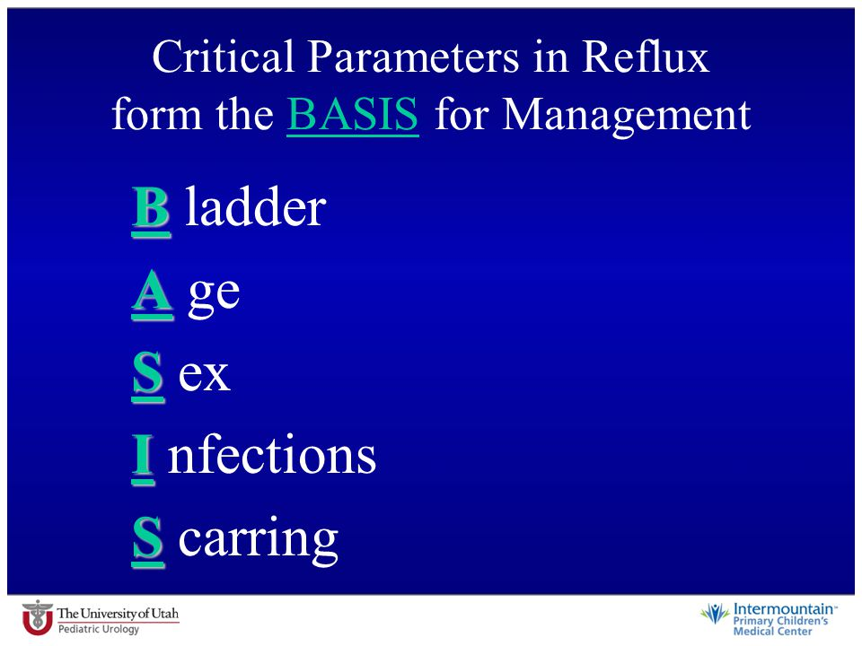 Critical Parameters in Reflux form the BASIS for Management