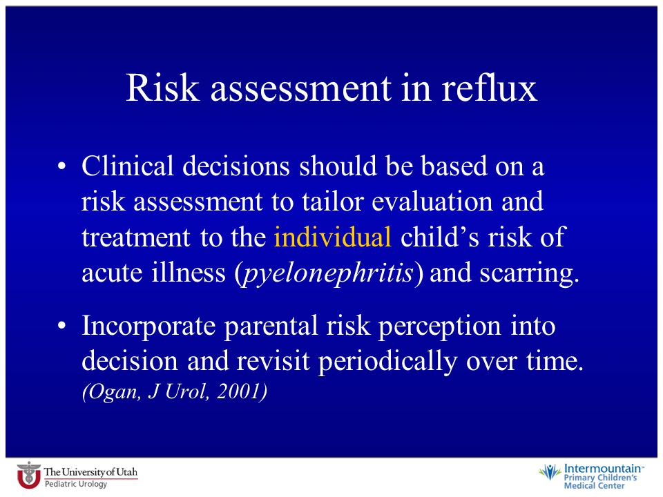 Risk assessment in reflux